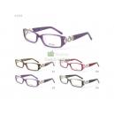 Módní dámské celoobrubové plastové brýle s kovovým zdobením