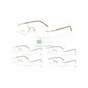 Módní vrtané (bezobrubové) kovové unisex brýle